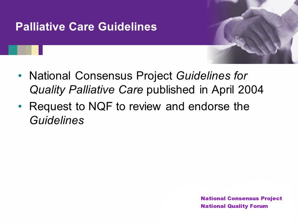 Palliative Care Guidelines