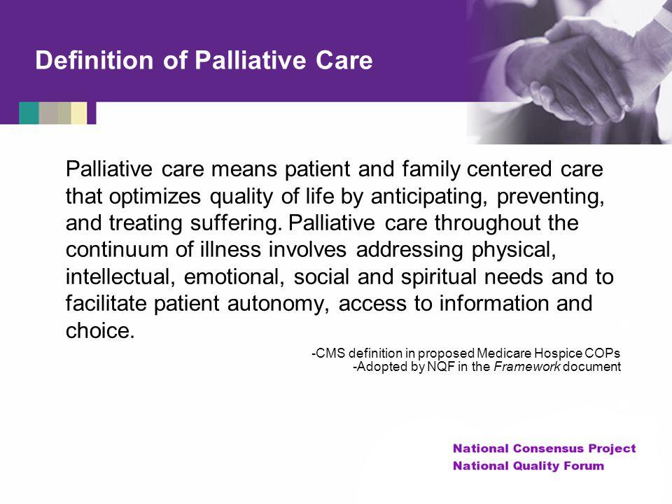 Definition of Palliative Care