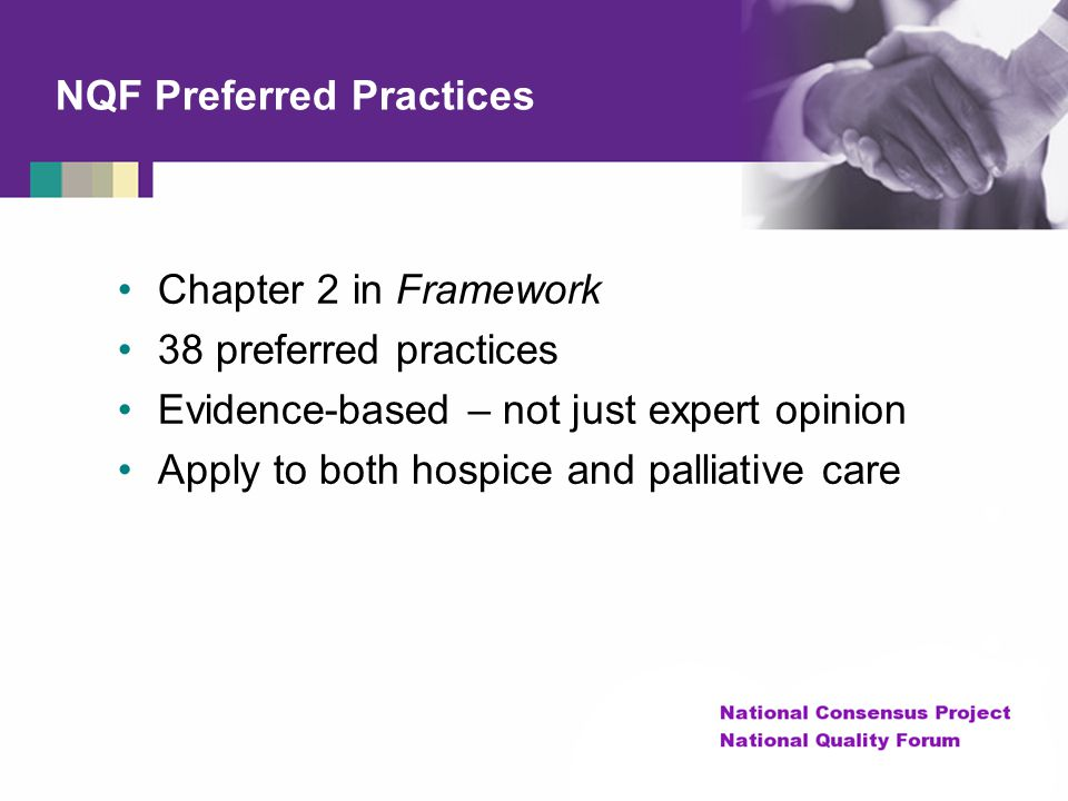 NQF Preferred Practices