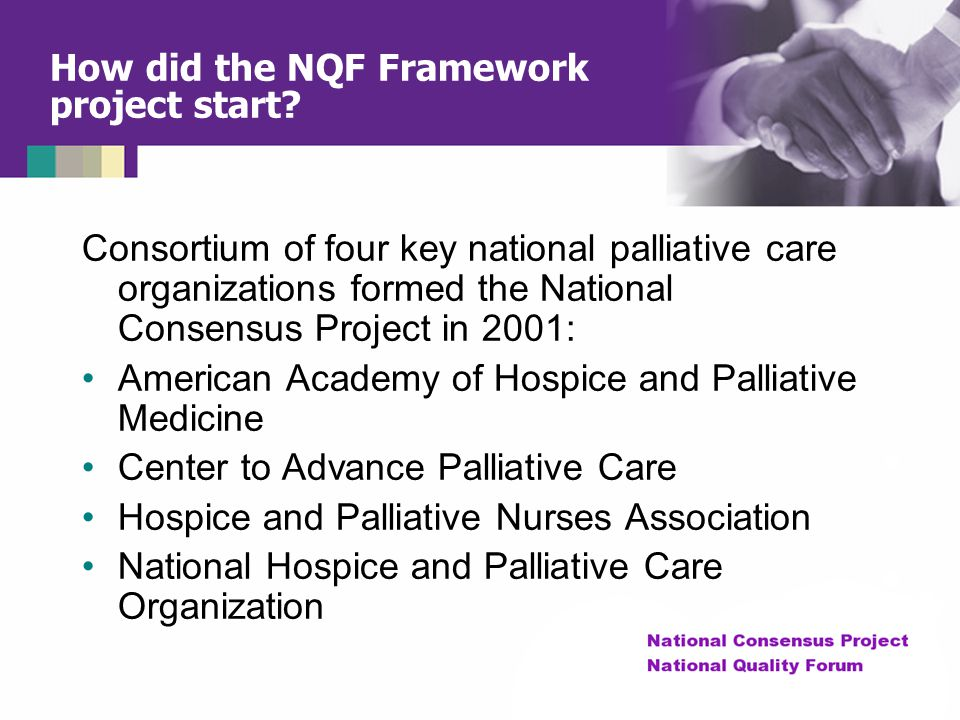 How did the NQF Framework project start