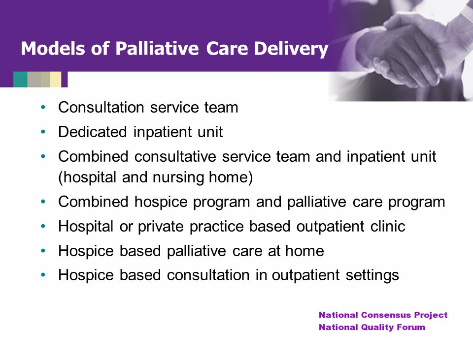 Models of Palliative Care Delivery