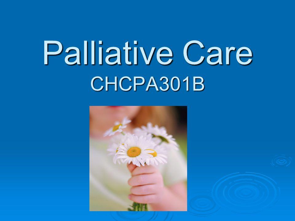 Palliative Care CHCPA301B