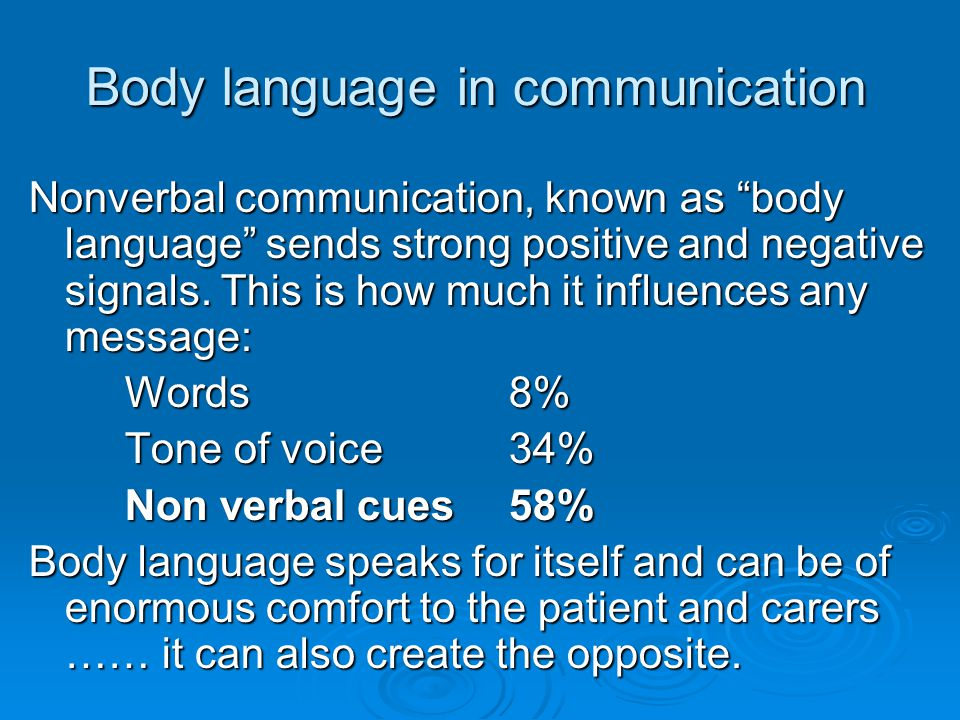Body language in communication
