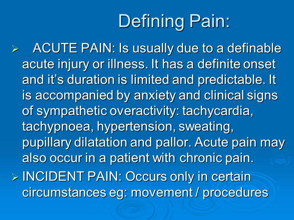 Defining Pain: