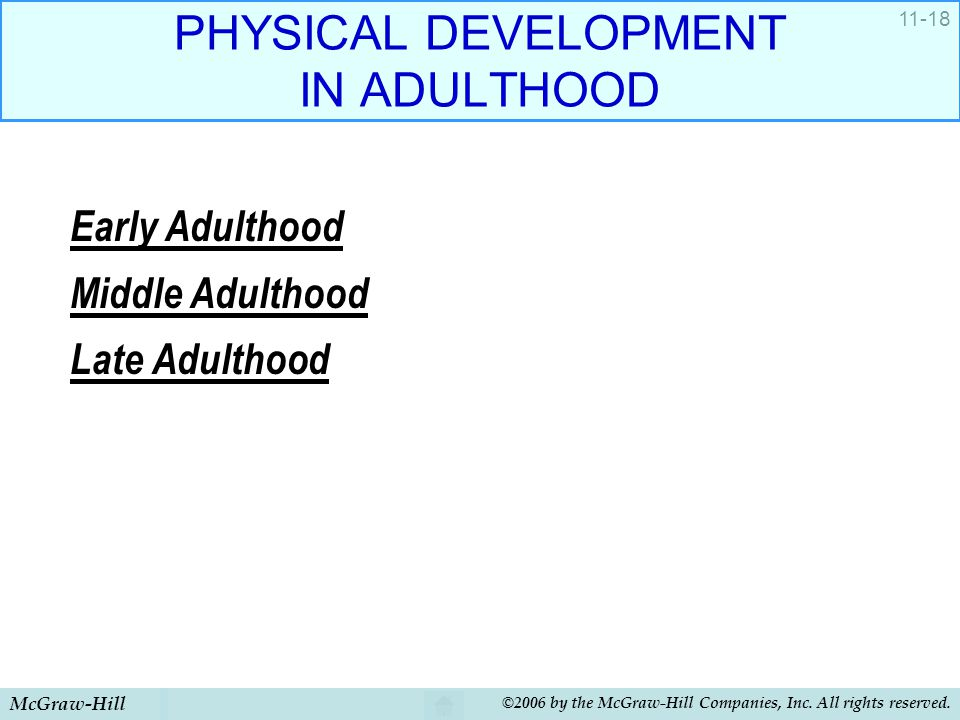 PHYSICAL DEVELOPMENT IN ADULTHOOD