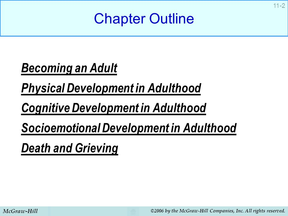 Chapter Outline Becoming an Adult Physical Development in Adulthood