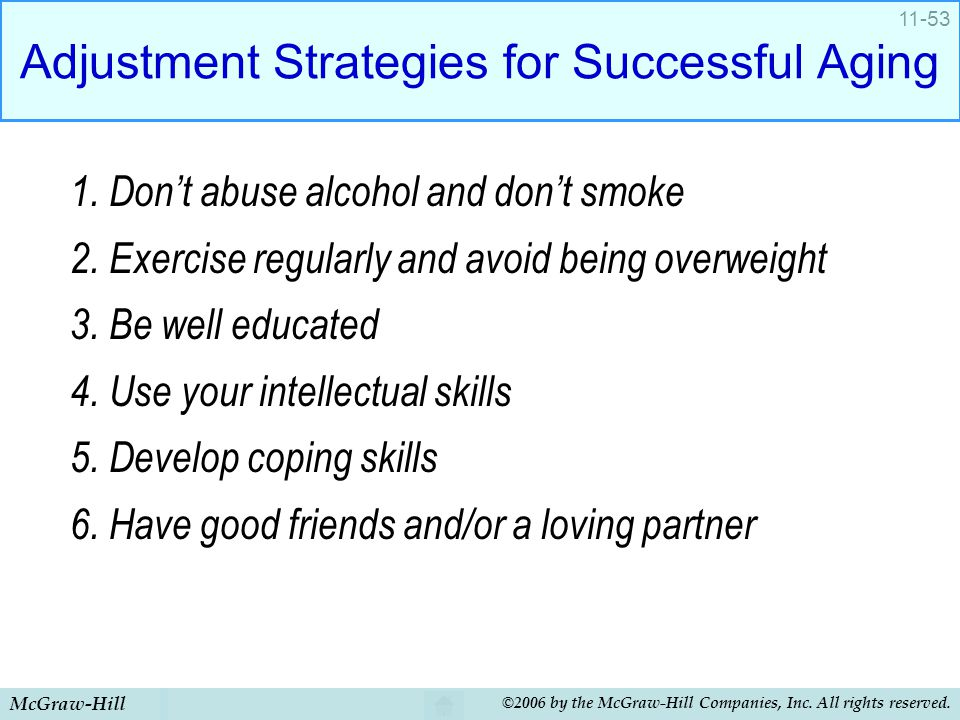 Adjustment Strategies for Successful Aging