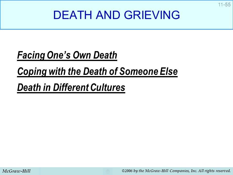 DEATH AND GRIEVING Facing One's Own Death