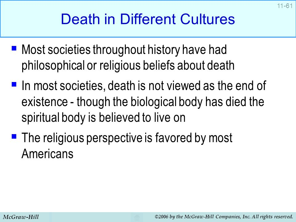 Death in Different Cultures