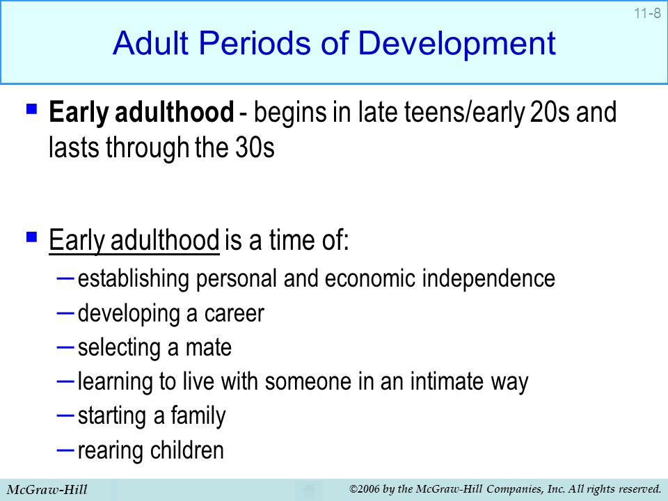 Adult Periods of Development