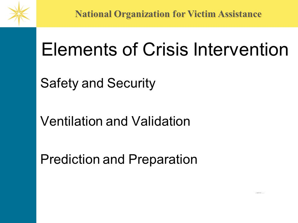 Elements of Crisis Intervention