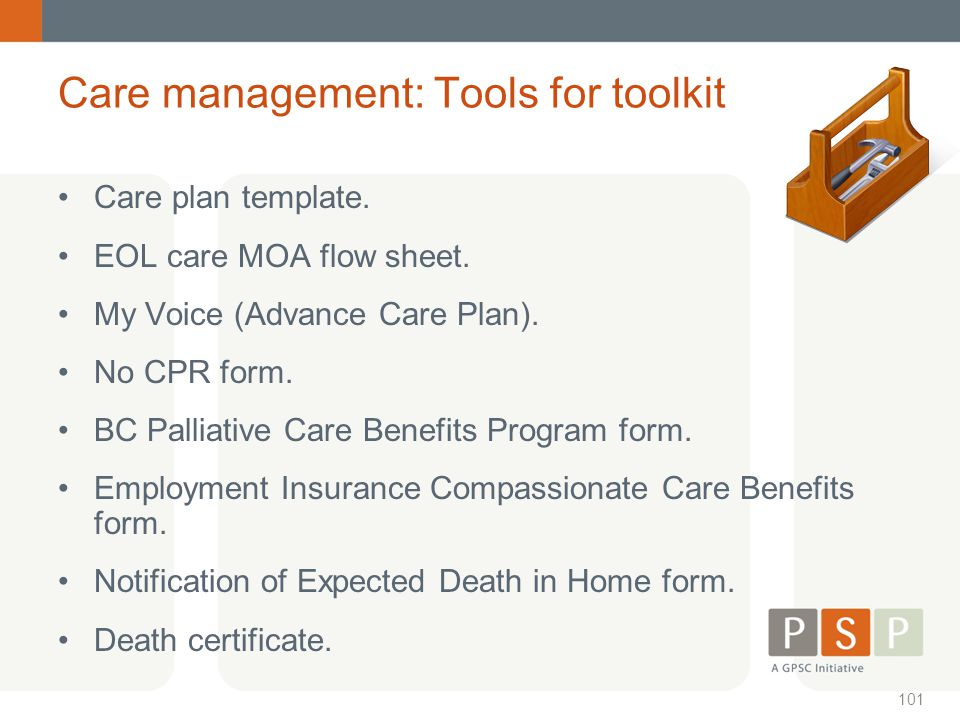 Care management: Tools for toolkit