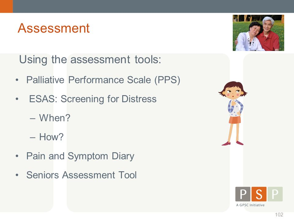 Using the assessment tools: