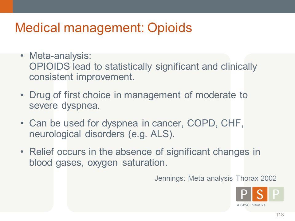 Medical management: Opioids