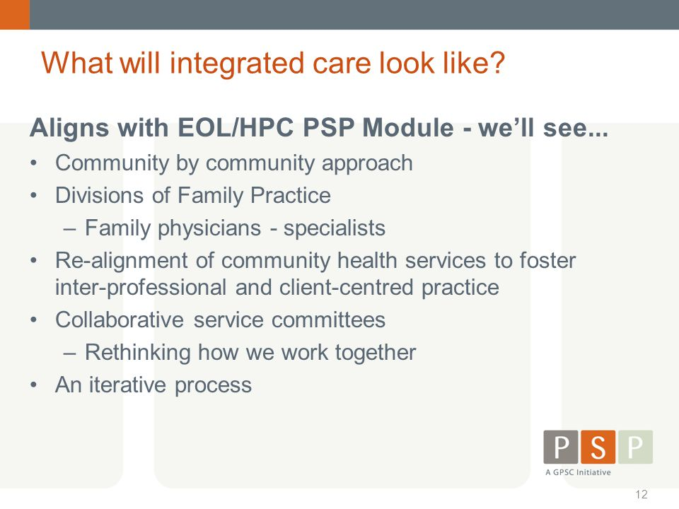 What will integrated care look like