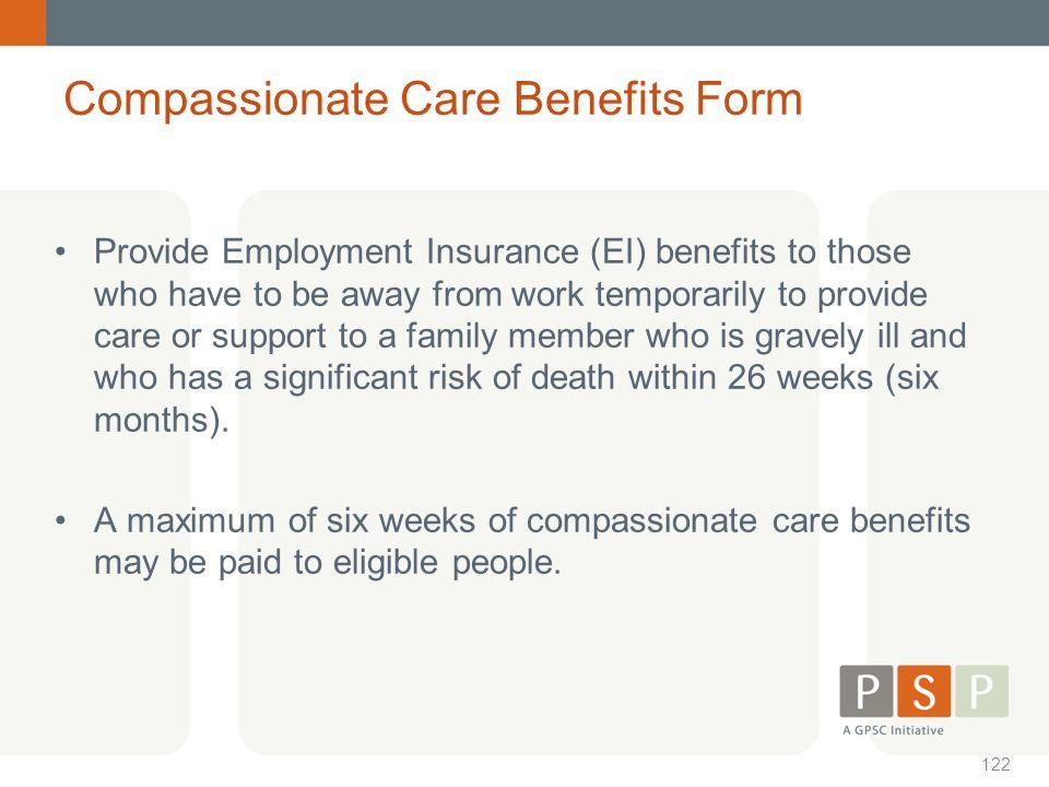 Compassionate Care Benefits Form