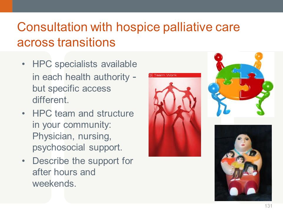 Consultation with hospice palliative care across transitions