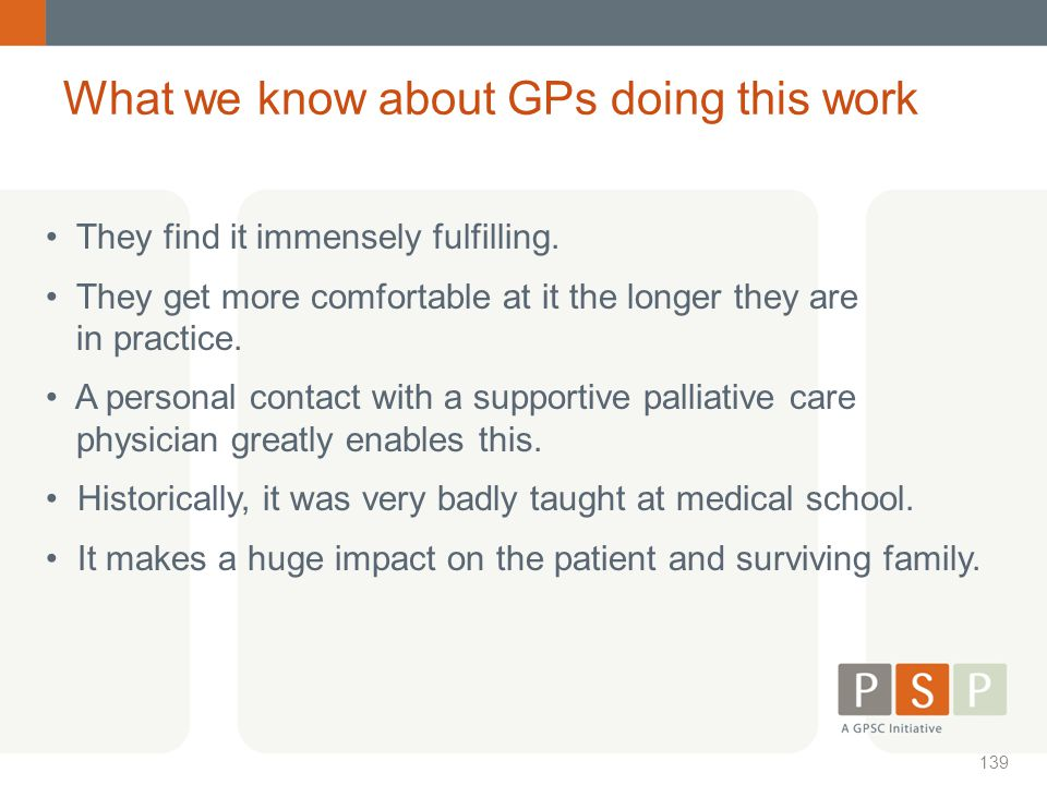 What we know about GPs doing this work