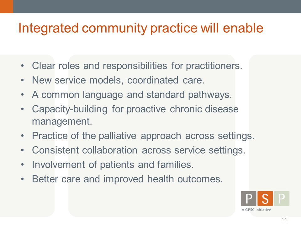 Integrated community practice will enable