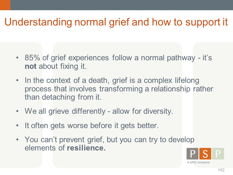 Understanding normal grief and how to support it