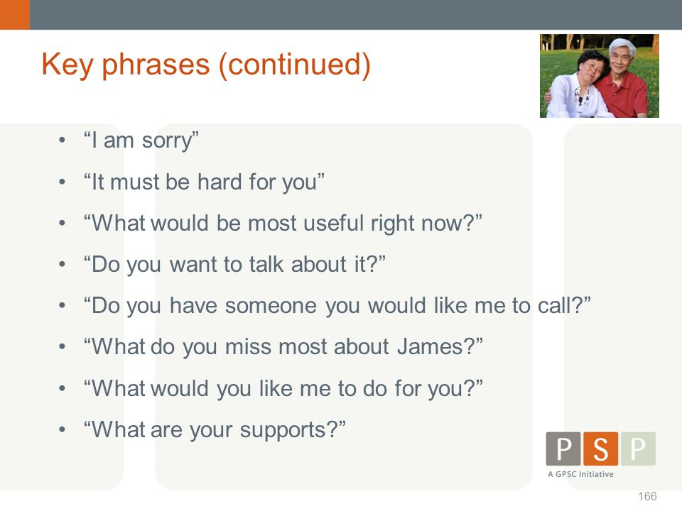 Key phrases (continued)
