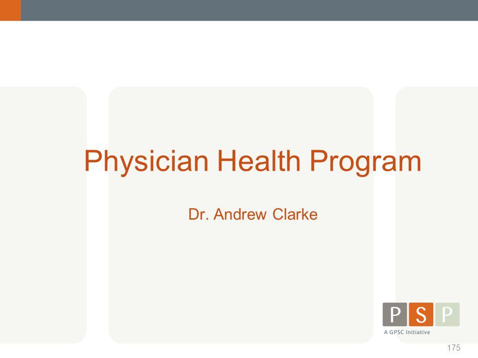 Physician Health Program