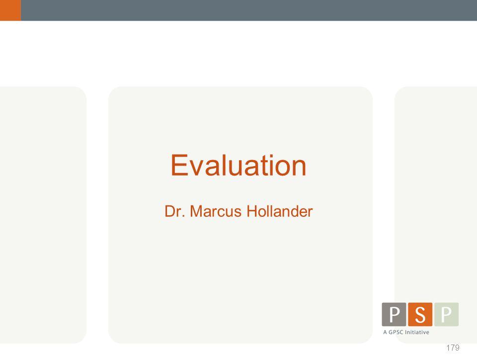 Evaluation Dr. Marcus Hollander