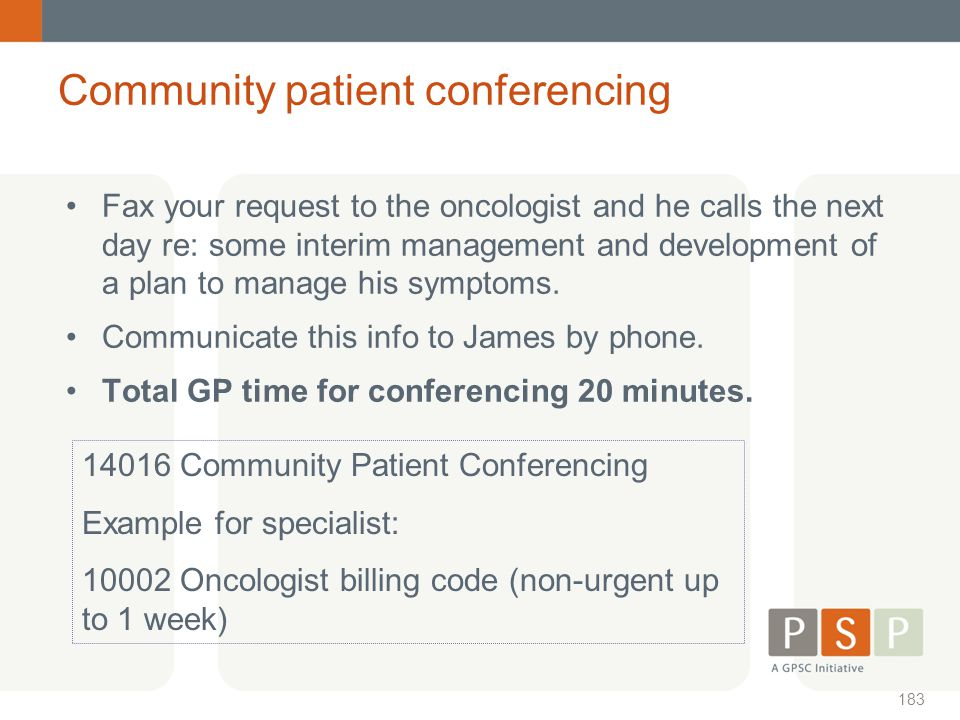 Community patient conferencing