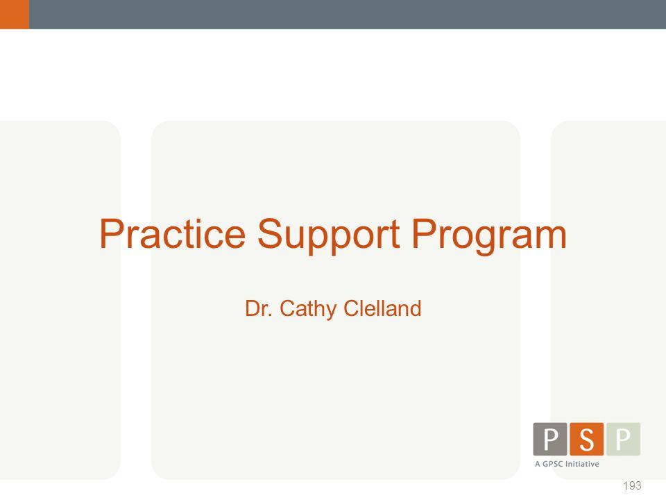 Practice Support Program