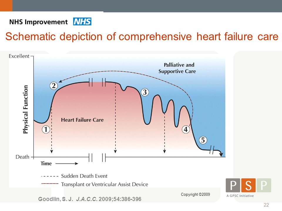 Schematic depiction of comprehensive heart failure care
