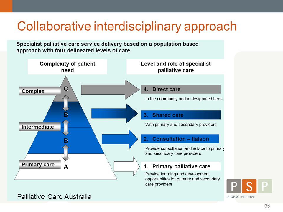 Collaborative interdisciplinary approach