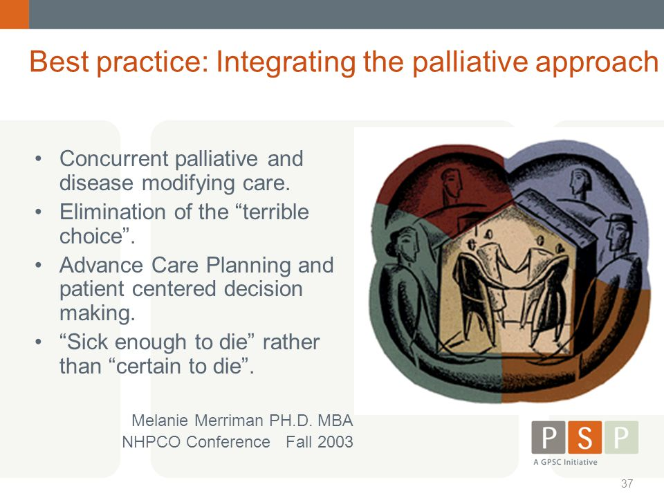 Best practice: Integrating the palliative approach