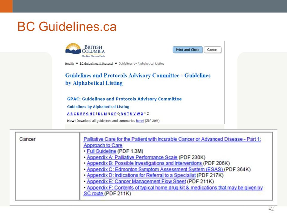 BC Guidelines.ca