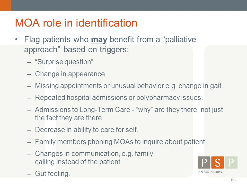 MOA role in identification
