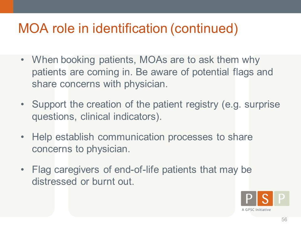 MOA role in identification (continued)