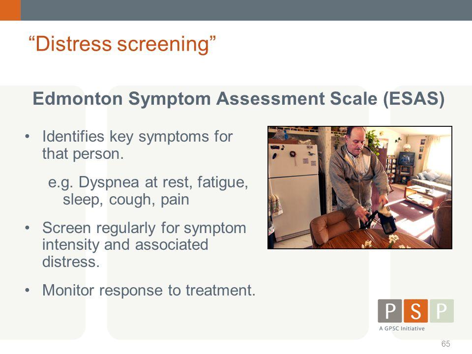Distress screening Edmonton Symptom Assessment Scale (ESAS)