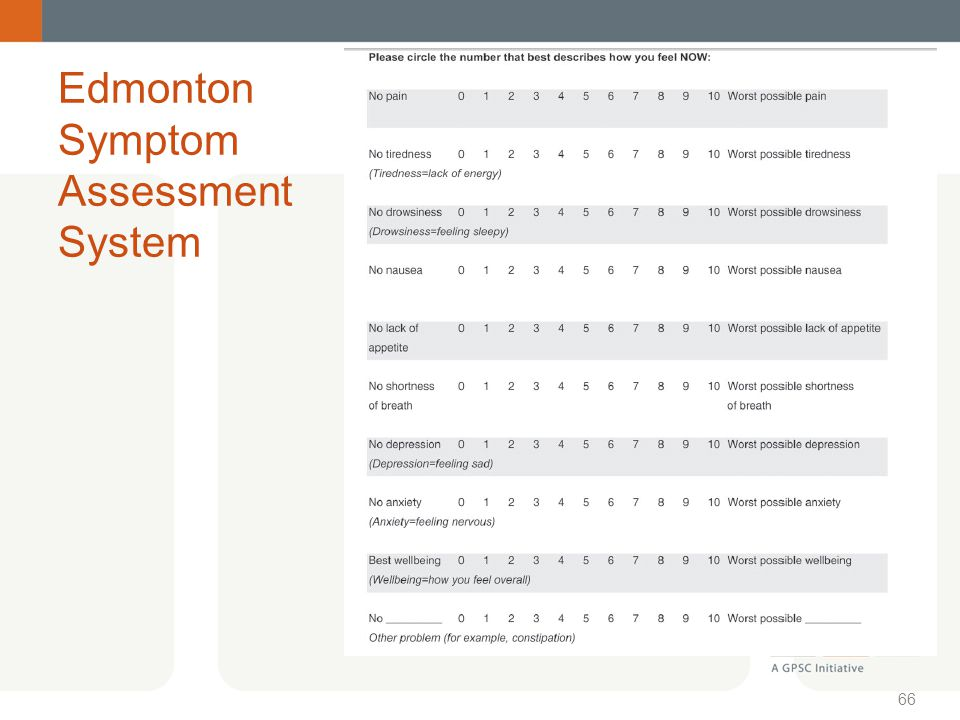 Edmonton Symptom Assessment System