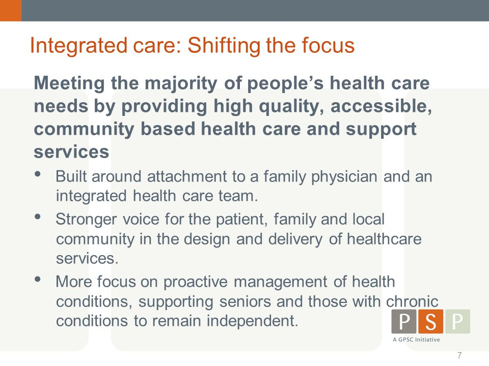 Integrated care: Shifting the focus