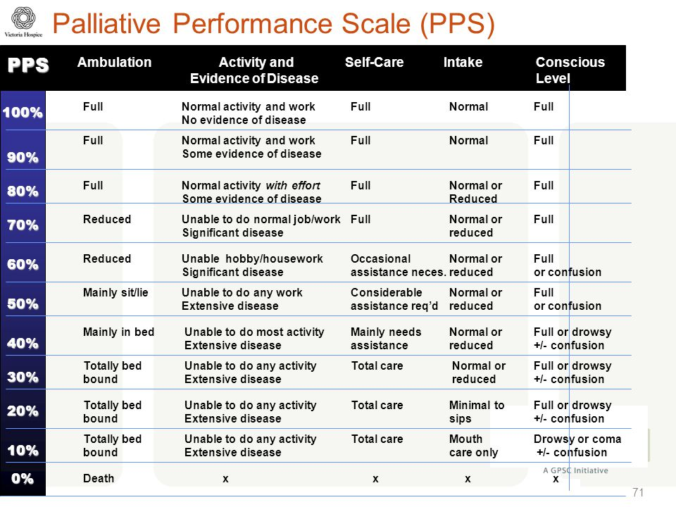 Palliative Performance Scale (PPS)