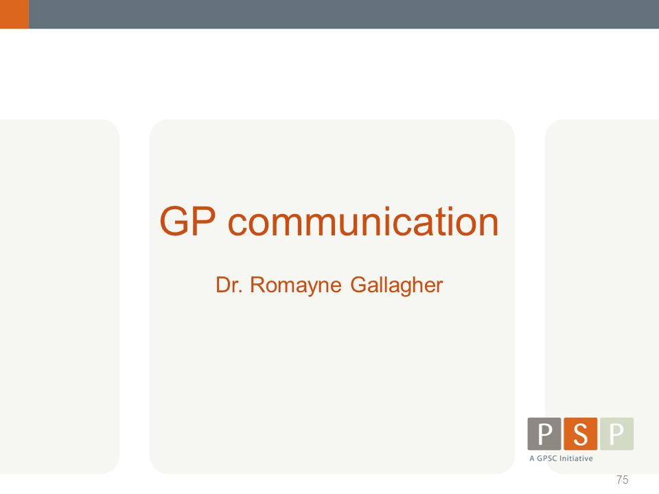 GP communication Dr. Romayne Gallagher MOAs go to a break-out session