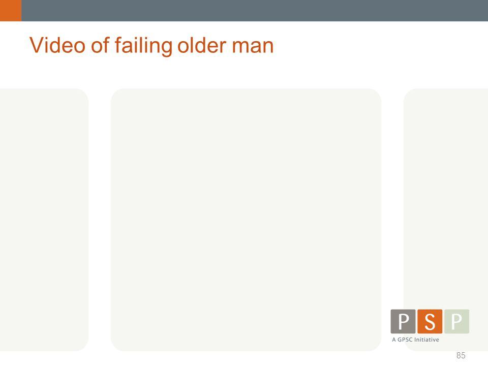 Video of failing older man