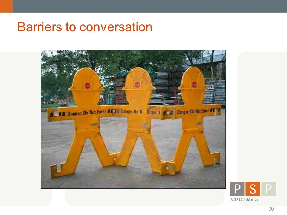 Barriers to conversation