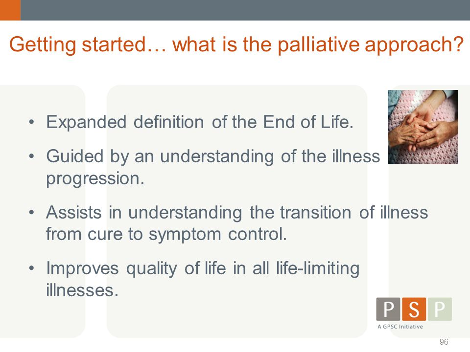 Getting started… what is the palliative approach
