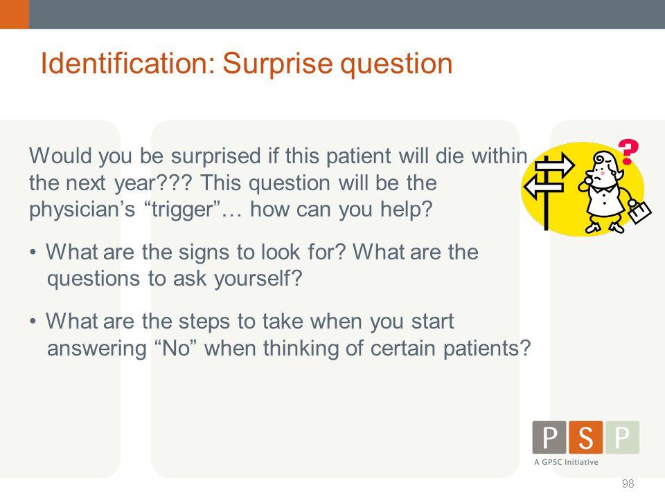 Identification: Surprise question