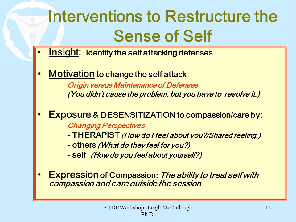 Interventions to Restructure the Sense of Self