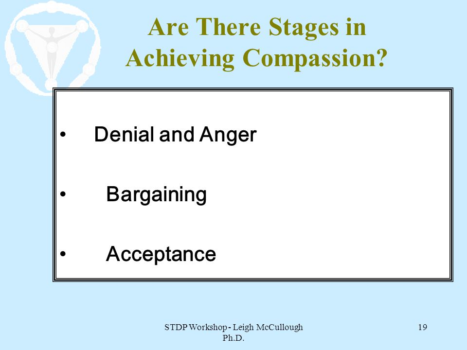 Are There Stages in Achieving Compassion