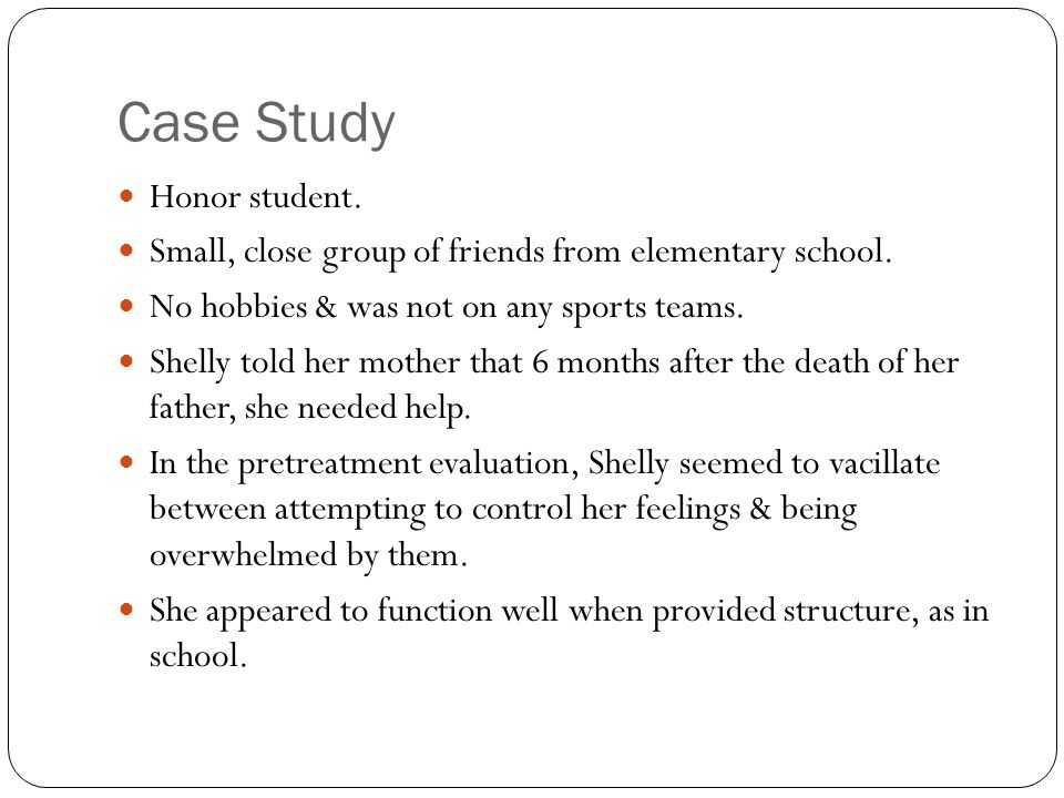Case Study Honor student.