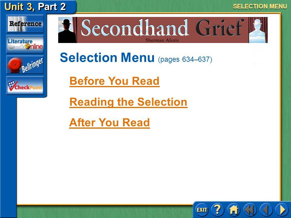 Selection Menu (pages 634–637)