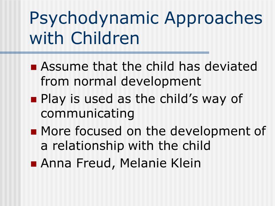 Psychodynamic Approaches with Children