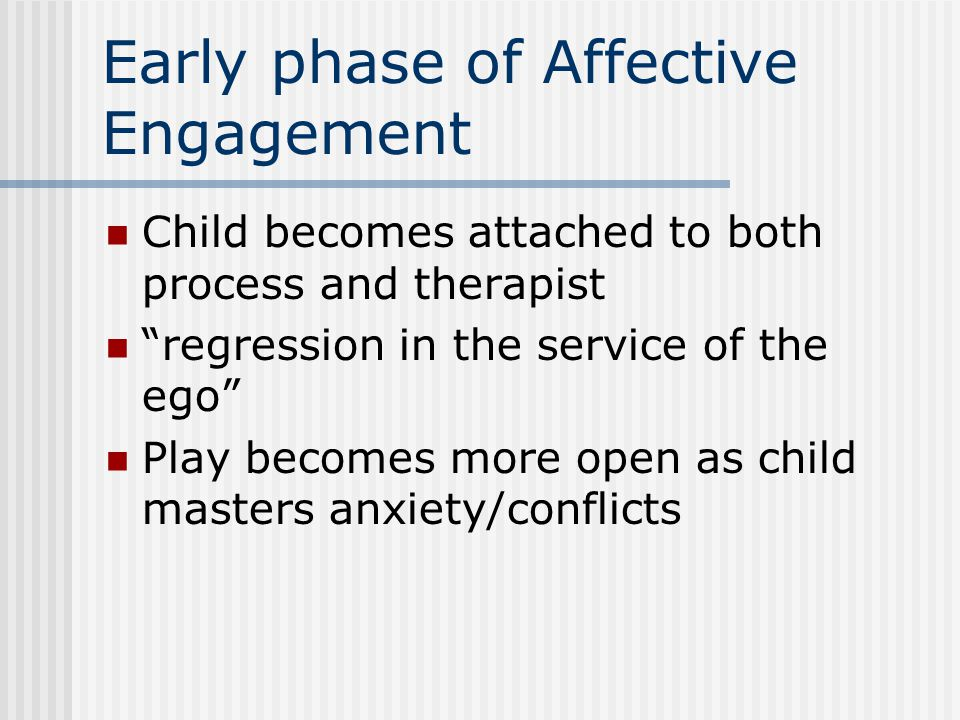 Early phase of Affective Engagement